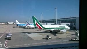 Avioane la aeroportul din Roma