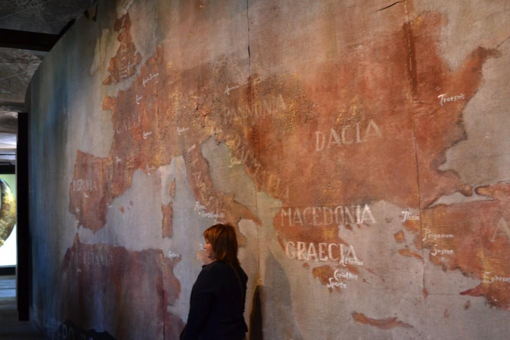Harta teritoriilor Romanice pe Colosseum