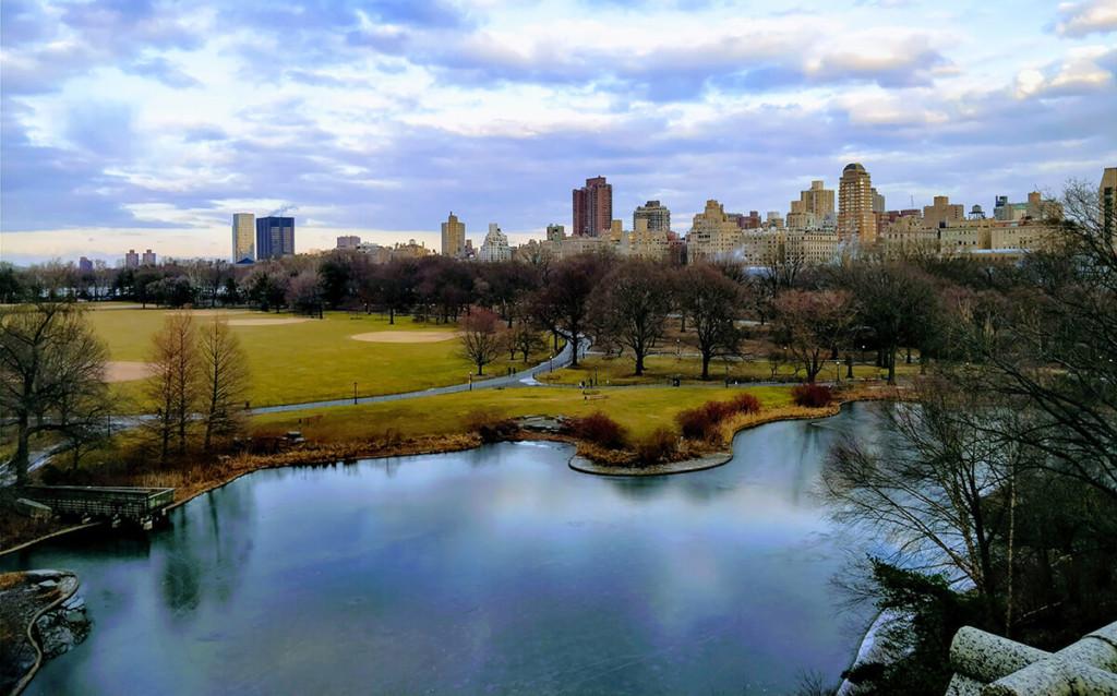 Lacurile mai mici din Central Park erau înghețate în februarie