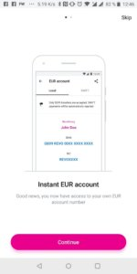 IBAN Revolut EUR