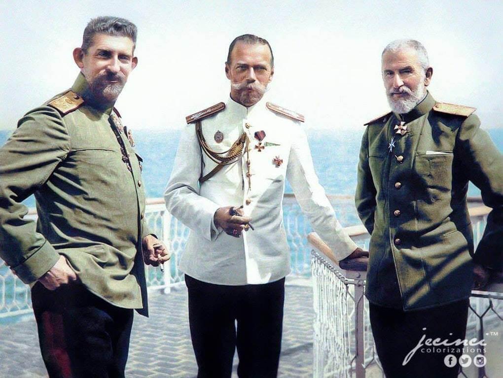 Regeule Carol si Ferdinand cu Tsar