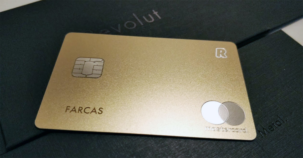 Card Revolut Metal Gold
