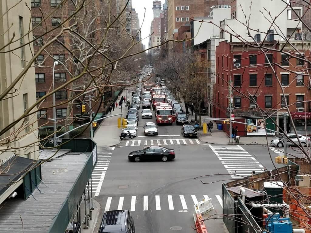 O intervenție a pompierilor în New York care pare atât de obișnuită